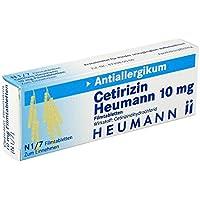 Preisvergleich für Cetirizin Heumann 10 mg, 7 St. Filmtabletten