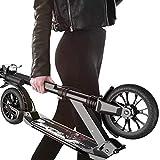 Roller Erwachsene, Adult Kick Scooter mit großen Rädern und Scheibenbremse, Dual Suspension Folding Commuter Scooter mit Tragetasche - Unterstützt 100 kg