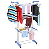 Best Laundry Racks - Dealcrox Collapsible Clothes Drying Rack 3-Tier Folding Laundry Review