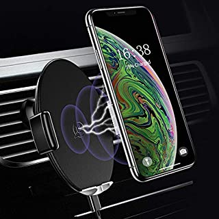 [Automatic] Wireless Car Phone Charger Holder, 10W Qi Fast Wireless Car Charger Mount Air Vent Charger Holder Compatible For iPhone X XR XS Max 8 Plus,Samsung Note 8/9 S9 S8 S7 S6 All QI Enabled Phone
