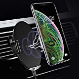 USAMS Qi Handy Halterung fürs Auto, Automatisch Touch Kontrolle Wireless Charger Kfz Handyhalter Lüftung für Apple iPhone XS Max/XR/X/8 Plus, Samsung Galaxy S9+/S8/S7/S6 Edge/Note 8/5