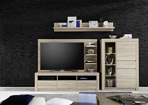 trendteam SV48545 TV Möbel Wandpaneel Eiche Sonoma hell, BxHxT 164x87x24 cm - 3