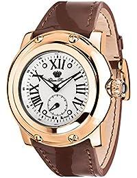 Glam Rock Miami Damen-Armbanduhr 46mm Armband Leder Braun Schweizer Quarz Zifferblatt Silber GR10042N