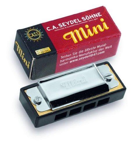 "C. A. Seydel Mundharmonika ""Mini"" -- vollgestimmte Kleinmundharmonika mit 4 Kanälen und 8 Tönen"