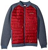 Columbia Men's Northern Comfort Full Zip Jacket, Dark Mountain/Red Element, Large