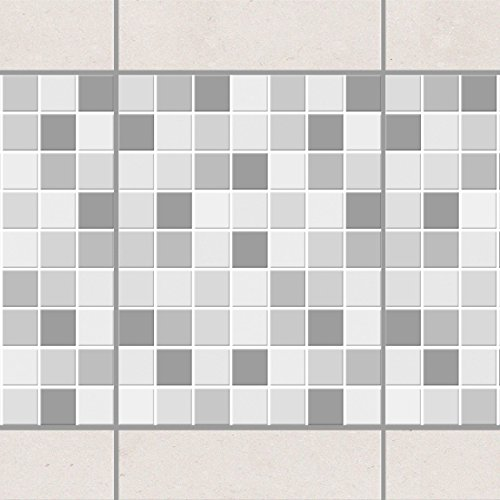 Fliesen Bordüre - Mosaikfliesen Winterset 20cm x 15cm, Setgröße:6teilig