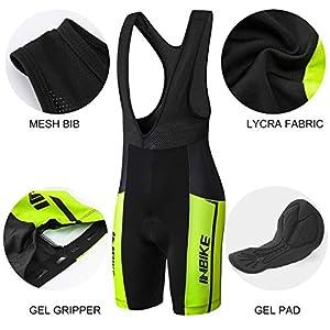 INBIKE Clothing Set Cycling Suit Men's Clothing for Summer, Men's Cycling Jersey + Cycling Bib Shorts Bib Shorts (L)