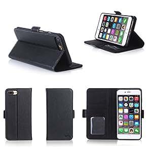 XEPTIO Apple iPhone 7 Plus 5.5 Pouces : Housse Portefeuille Noire Cuir Style avec Stand: Amazon