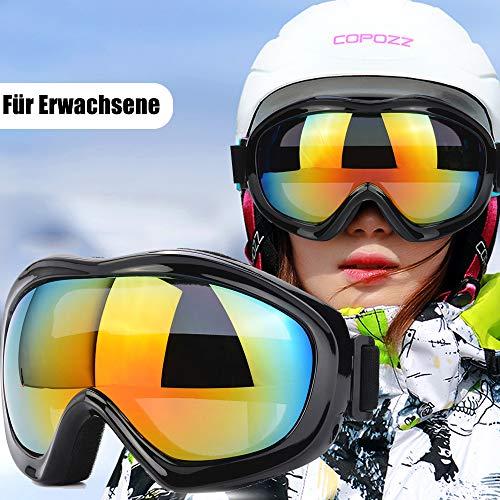 TBoonor Skibrille für Kinder Snowboardbrille für Wintersportarten ski Goggles UV400-Schutz & Windwiderstand Snowboard Brille zum Skifahren und Bergsteigen (Schwarz 1)