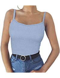 Camisas Mujer ❤️LANSKIRT❤ Basic Chaleco Top Sexy Chaleco de Ropa Interior Casual para