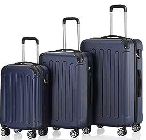 Zwillingsrollen 3 tlg.2045 neu Reisekofferset Koffer Kofferset Trolleys Hartschale in 12 Farben (Dunkelblau)