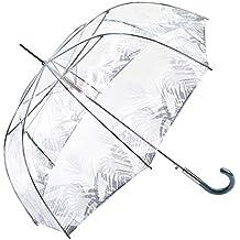Le Monde du Parapluie Paragua clásico, transparente (Transparente) - BISETTI34170TROPICALGRIS