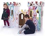 Kid-Eco Cardboard Castle Playhouse Kit - White
