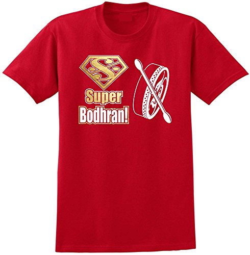 Bodhran Super - Red Rot T Shirt Größe 87cm 36in Small MusicaliTee