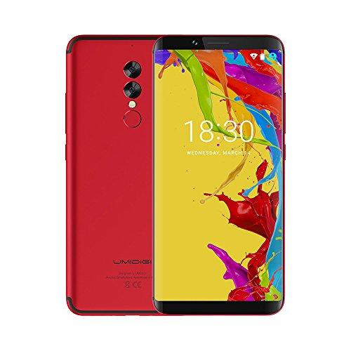 Moviles Libres Baratos, UMIDIGI S2 Lite, 6.0 pulgadas HD (pantalla completa 18: 9) 5100mAh, (Face ID,1.5GHz Octa Core ,4GB RAM + 32GB ROM, 16.0MP + 5.0MP Dual Rear Cameras Type-C) Smartphone 4G,Andriod 7.0-Rojo