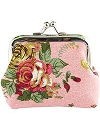 672593a7ec112 KIMODO Geldbörse Damen Retro Vintage Flower Kleine Haspe Portemonnaie  Brieftasche Geldbeutel Elegant Handtasche Frauen Mode…