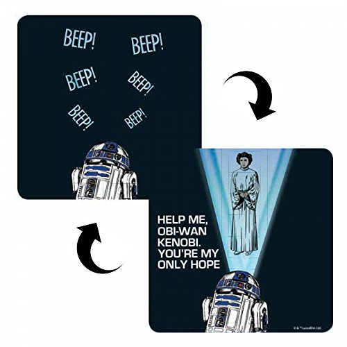 Star Wars Help Me Obi-Wan 3D Lentikular-Untersetzer