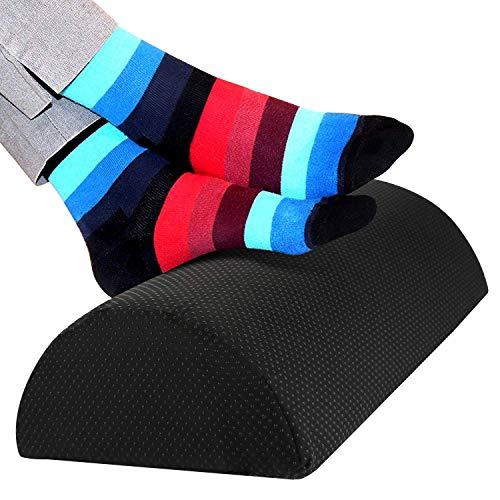 Fußstütze unter dem Schreibtisch, ergonomisches Fußstützenkissen aus Schwamm mit hoher Dichte, Fußkissen für verbesserte Körperhaltung und Stressabbau in Büro und Haushalt -