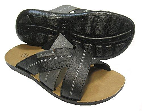 Herren Clogs Pantoletten, Sandalen schwarz Schwarz