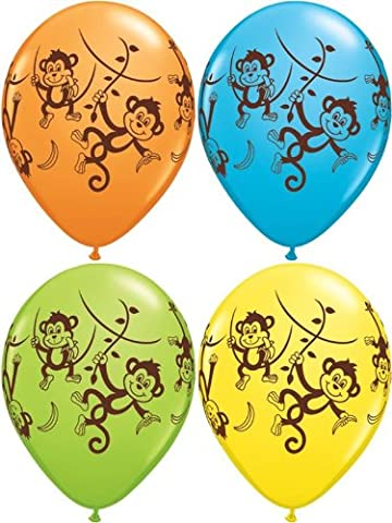 10 x Assorted Monster Monkeys Party/Birthday Balloons - 11