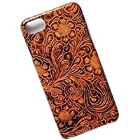 Slim Case for iPhone 7, 8. Tasche Cover. Tooled Leather Pattern.
