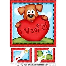 8x 8Rusty Dog Heart Love smerlato angolo topper by Carol Clarke
