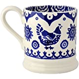 Emma Bridgewater - Blue Hen & Border - 1/2 Pint Mug