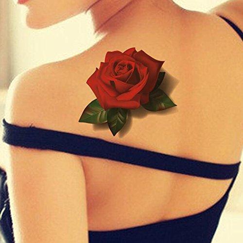 tafly-impermeabile-3d-farfalla-rossa-rosa-fiore-sticker-tatuaggio-foglio-decal-corpo-arte-tatuaggi-f