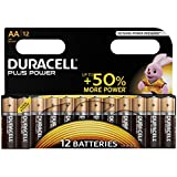 Duracell Plus Power Piles Alcalines type AA, Lot de 12 piles
