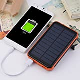 Dailyinshop 50000MAH Große Kapazität Wasserdichte Handys Externe Solar Power Bank (Farbe: Schwarz & Orange)