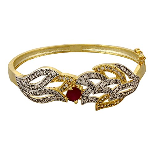 YouBella Jewellery Designer American Diamond Gold Plated Bracelet Bangle Jewellery For Girls and Women  available at amazon for Rs.299