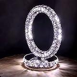 LEDMLSH Led Kristall Lampe moderne einfache kreative Edelstahl Kristall Lotus Lampe Schlafzimmer Nachttisch Lampe Tischlampe