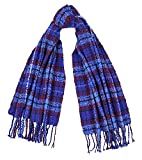Tartan Traditions Bright Blue Tartan Boucle Large Blanket Scarf