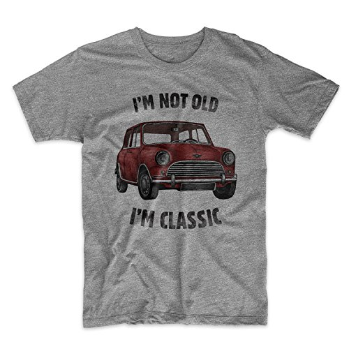 I'm Not Old I'm Classic Vintage Car Herren T-Shirt Grau Large (T-shirt Cotton Classic Premium Crewneck)