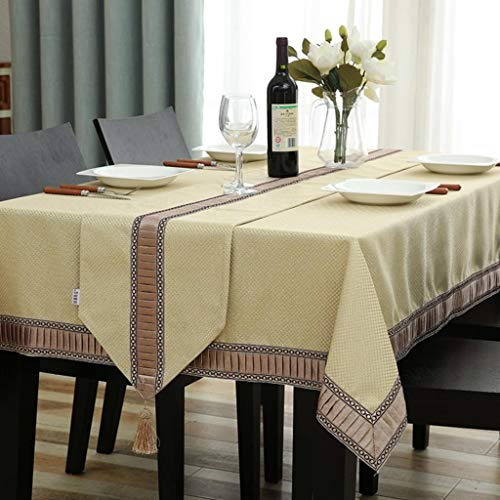 Le tovaglia, copritavolo, sala da pranzo cucina quadrata vintage b 140x180cm(55x71inch)