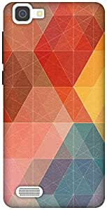 The Racoon Lean Geometric Design with Colors hard plastic printed back case / cover for Vivo V1