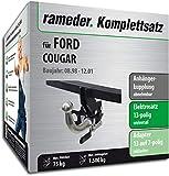 Rameder Komplettsatz, Anhängerkupplung abnehmbar + 13pol Elektrik für Ford Cougar (124353-03556-1)