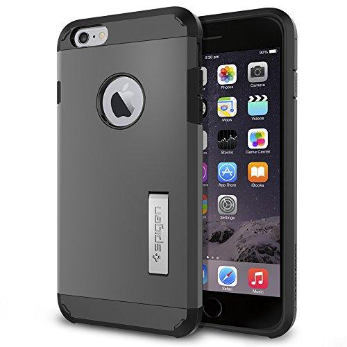 Spigen Case für iPhone 6 PLUS / 6S PLUS [TOUGH ARMOR] mit SF in mintgrün [Mint - SGP11055] Grau