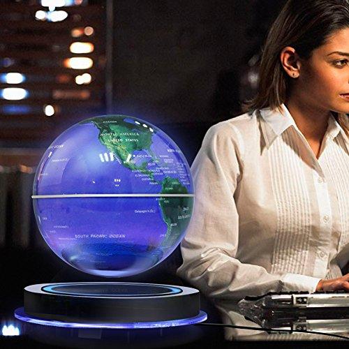 Best Magnetic Levitation Floating Globe, 8″ Rotating Ball Anti Gravity LED Illuminated World Map Earth for Desktop Office Home Decor Kids Education Reviews