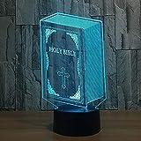 3D LED 7 colori bibbia riflettori atmosfera decorazione della casa stereo per bambini vacanza