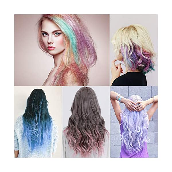 Lictin Tiza para el cabello Tintes capilares con tiza Para niños y niñas Pluma de tinte temporal para el cabello de…