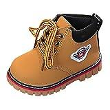 Kinder Baby Stiefel Booties Warme Jungen Freizeit Sneaker Mädchen Schneeschuhe Outdoorschuhe XXYsm Gelb 20 EU/12-18 Monate