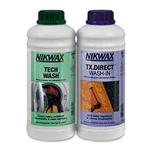 Nikwax Tech Wash and TX Direct Wash-In Cleaner, 1 Litre