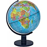 VARSHINE Premium Universal Globe || Table Top Political World Globe ||With Time Scale || Scratch Proof Surface || Ideal For Children || For Office|| For School || 8 Inch || Rotating Globe || A-01