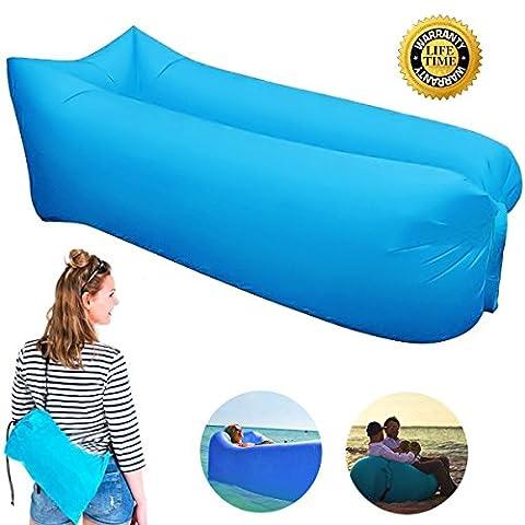Canapé à Air, Oddis Air Sofa Canapé gonflable imperméable à l'eau, canapé à air portable avec sac à main, sac de couchage à l'intérieur de l'air extérieur pour le repos | Camping | Beach | Fishing, ect
