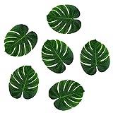 ROKOO 36 Stücke Künstliche Monstera Blätter Tropische Palmblatt für Jungle Party Dekoration Lieferungen