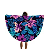 Yiiquan Unisex Toalla de Playa 3D Diseño de Impresión Beach Towel Manta Redonda para Yoga Pilates Acampada Viajes (Style#4, 150*150cm)
