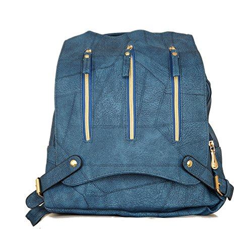 1ee8f0f52cdc1 Mini Blau Schultertasche Damen Umhangtasche Cityrucksack Handtasche Tasche  Rucksack kleiner Rucksack Kunstleder Stadtrucksack pBBqZEOgnw