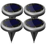 Solarleuchte Garten, Maxchange 8 LEDs IP65 Wasserdicht Solar Bodenleuchte mit Schaltungsschutz, Außenleuchte für Garten Deko Weg Landschaft Auffahrt [Auto On/Off] [Aufgerüstet] [4 Pack]