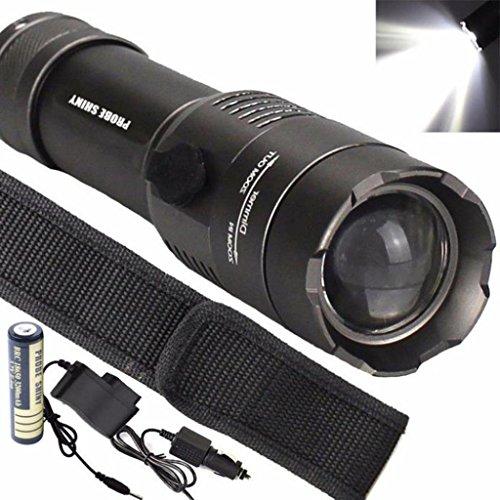 Preisvergleich Produktbild Goodsatar Taktische 5000 Lichtstärke T6 LED Taschenlampe 5 einstellbare Modi Wasserdichte ultraleichte Lampe mit 18650 Akku und Ladegerät für Outdoor Sport